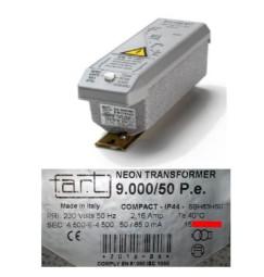 TRASFORMATORE PER INSEGNE NEON 9000 VOLT 50 mA IP 44