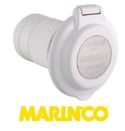 SPINA DA INCASSO 32A ORIGINALE MARINCO rotonda PLASTICA
