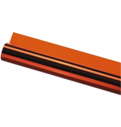 GELATINA FOGLIO colore arancio-ambra 120x50 cm