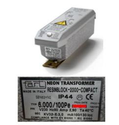 TRASFORMATORE PER INSEGNE NEON 6000 VOLT 100 mA IP 44