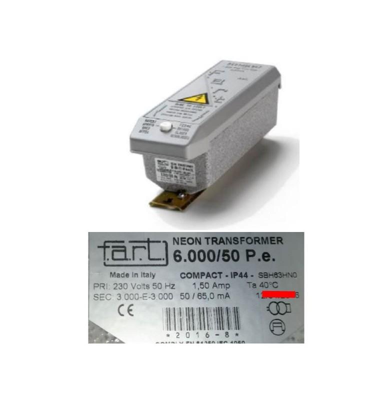 TRASFORMATORE PER INSEGNE NEON 6000 VOLT 50 mA IP 44