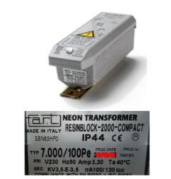 TRASFORMATORE PER INSEGNE NEON 7000 VOLT 100 mA IP 44