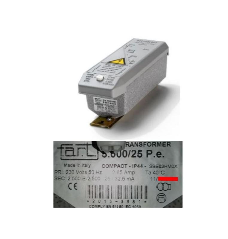 TRASFORMATORE PER INSEGNE NEON 5000 VOLT 25 mA IP 44