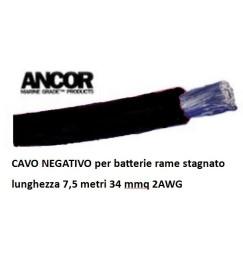 CAVO BATTERIA NERO 32mmq 7,5 metri
