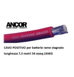CAVO BATTERIA ROSSO 32mmq 7,5 metri