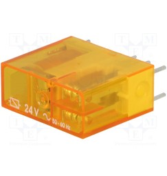 Finder Relè 6 contatti bobina 24 volt ac senza zoccolo