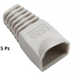 COPRICONNETTORE PER PLUG RJ45 GRIGIO SET 5 PZ