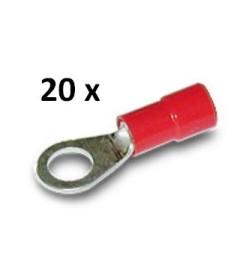 CAPOCORDA OCCHIELLO ROSSO FORO 4 mm (20 pezzi)