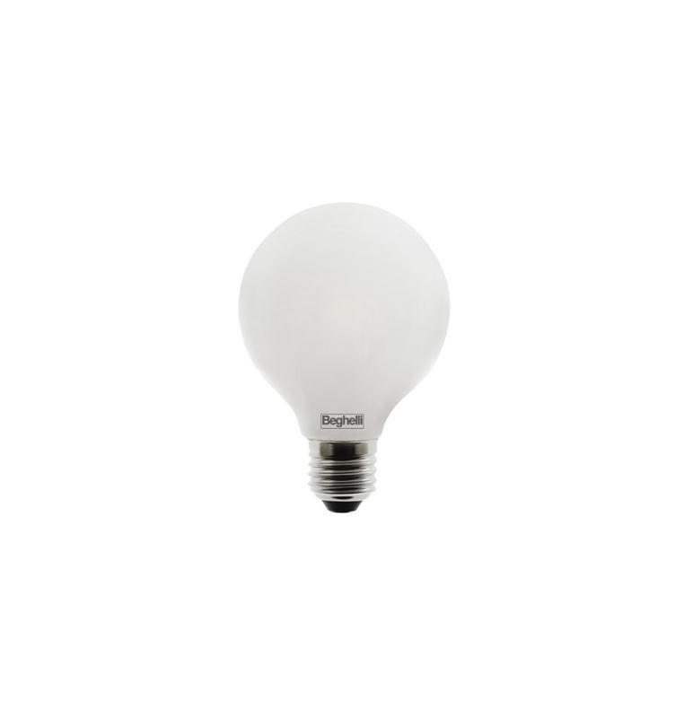 LAMPADINA LED E27 LUCE CALDA GLOBO OPALE 60 W (6W)