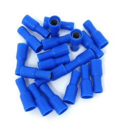 CAPOCORDA CILINDRICO FEMMINA BLU 5mm SET 20 PZ
