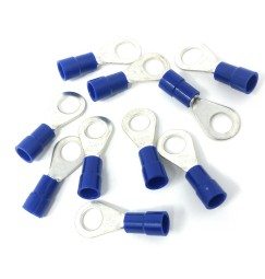 CAPOCORDA OCCHIELLO BLU FORO 5 mm SET 10 pz