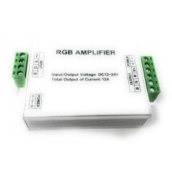 AMPLIFICATORE RGB PER LED STRIP 12 AMPERE 12-24 VOLT