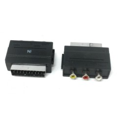 ADATTATORE SCART RCA IN AUDIO STEREO + VIDEO