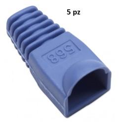 COPRICONNETTORE PER PLUG RJ45 BLU kit 5 pezzi