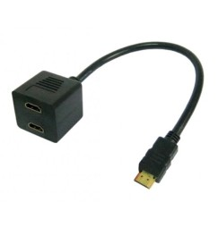 Splitter HDMI Maschio a 2 x HDMI Femmina sdoppiatore HDMI
