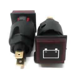 SPIA DA INCASSO alternatore batteria rossa SENZA LAMPADINA FORO 20mm