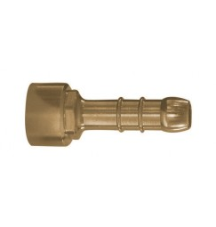 PORTAGOMMA IN OTTONE 1/2 FEMMINA PER TUBO GAS 9 mm