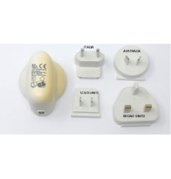 ALIMENTATORE USB da viaggio (UK, U.S.A., Australia, Europa)