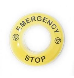 ETICHETTA EMERGENCY STOP per pulsanti di emergenza a fungo