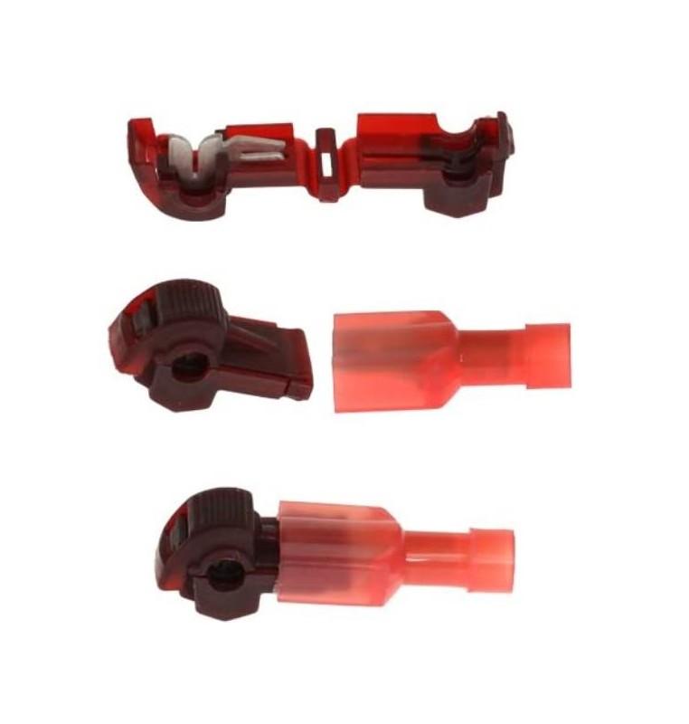 rubafilo rosso con presa FASTON 1,5 mmq confezione 10 pezzi