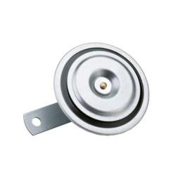 CLACSON in metallo per auto trattori macchine MMT 24 VOLT 91mm