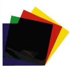 GELATINE pretagliate SET PAR64 24cmX24cm colori di base