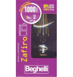 LAMPADINA E27 ZAFIROLED Goccia 1000 Lumen 7 Watt (equiv.70W)